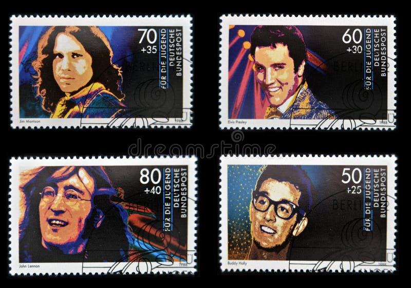 John Lennon, Jim Morrison, Elvis Presley και φιλαράκος στοκ φωτογραφίες