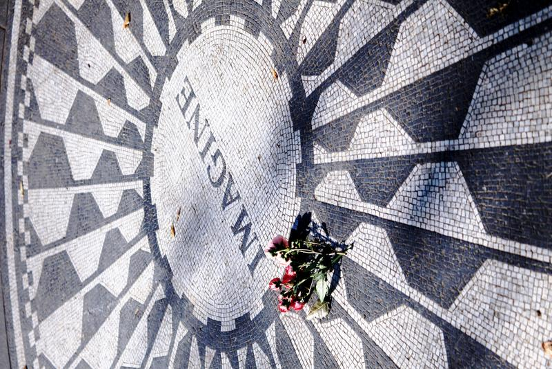 John Lennon memorial day, New York royalty free stock images
