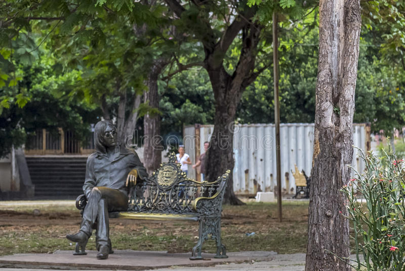John Lennon park, Hawański, Kuba zdjęcie royalty free
