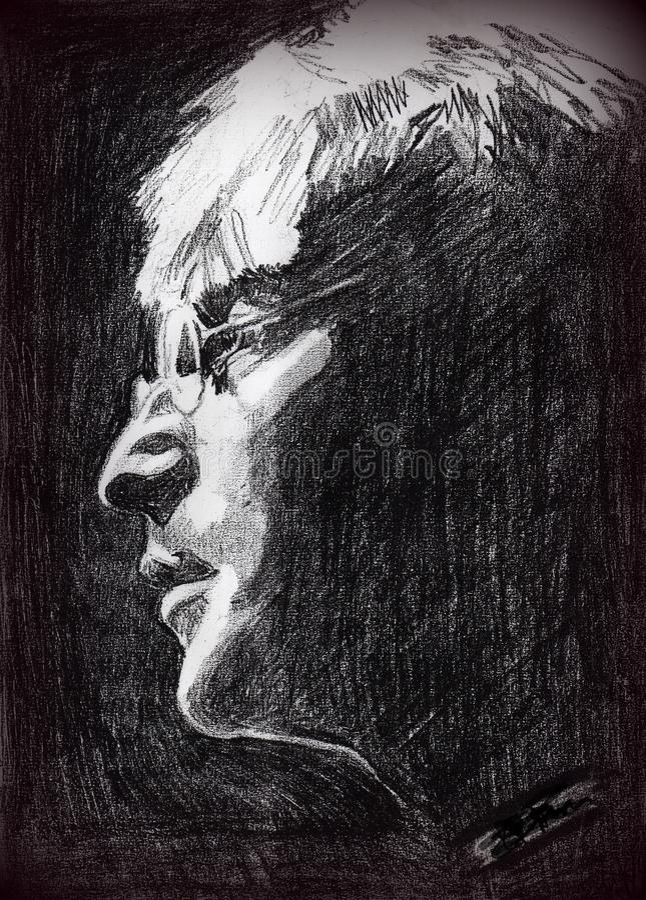John lennon. Pencil portrait of john lennon