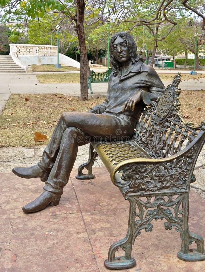 John Lennon standbeeld royalty-vrije stock afbeelding
