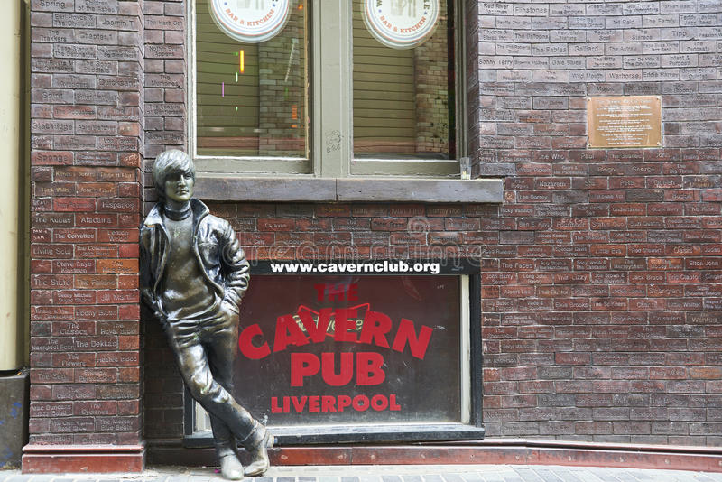 John Lennon statue royalty free stock photo