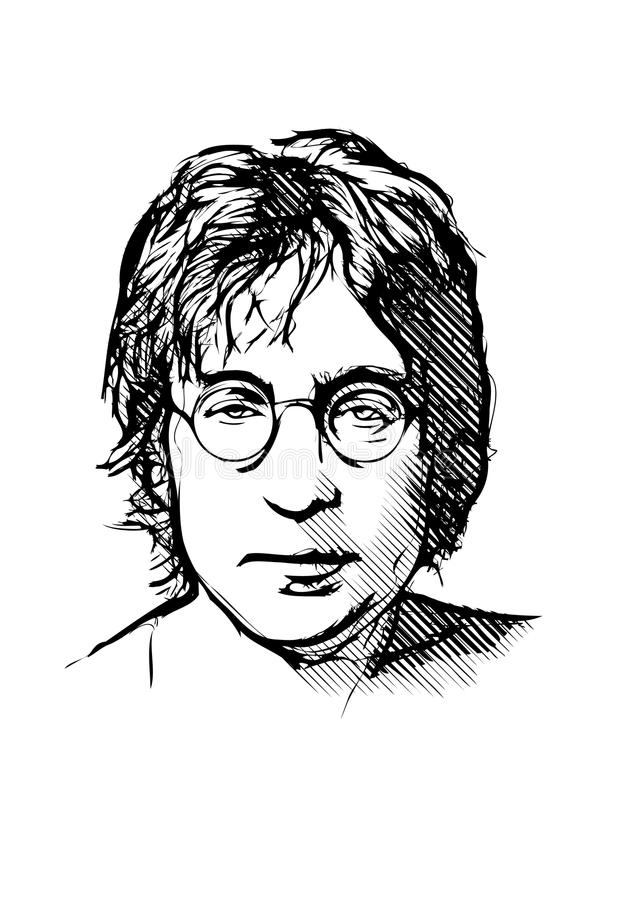 John Lennon Editorial Stock Photo Illustration Of Sketch 47692843