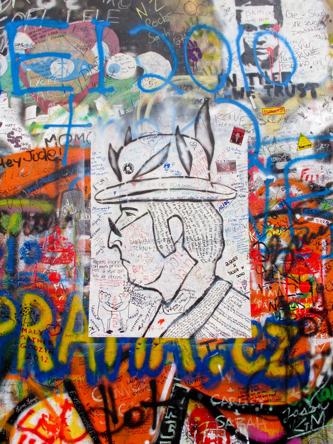 John Lennon Wall Editorial Stock Image