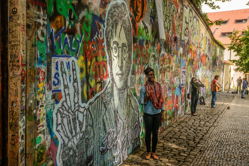 John Lennon Wall stock foto