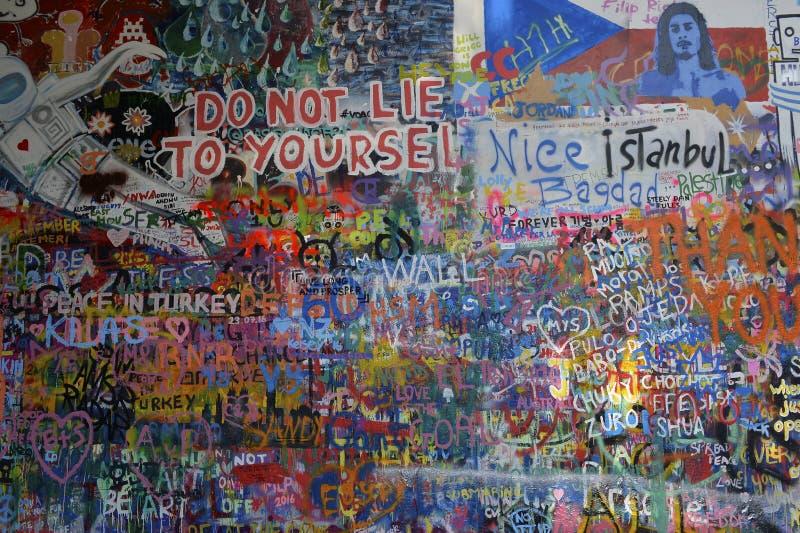 John Lennon Wall royalty-vrije stock afbeeldingen