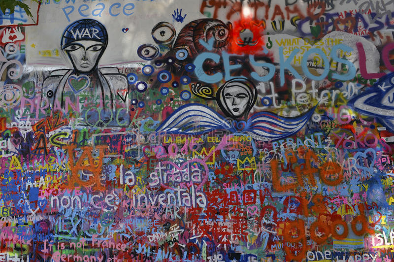 John Lennon Wall royalty-vrije stock foto