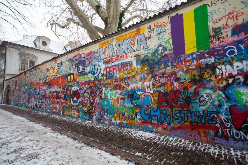 John Lennon Wall, Czech Republic, Prague royalty free stock images