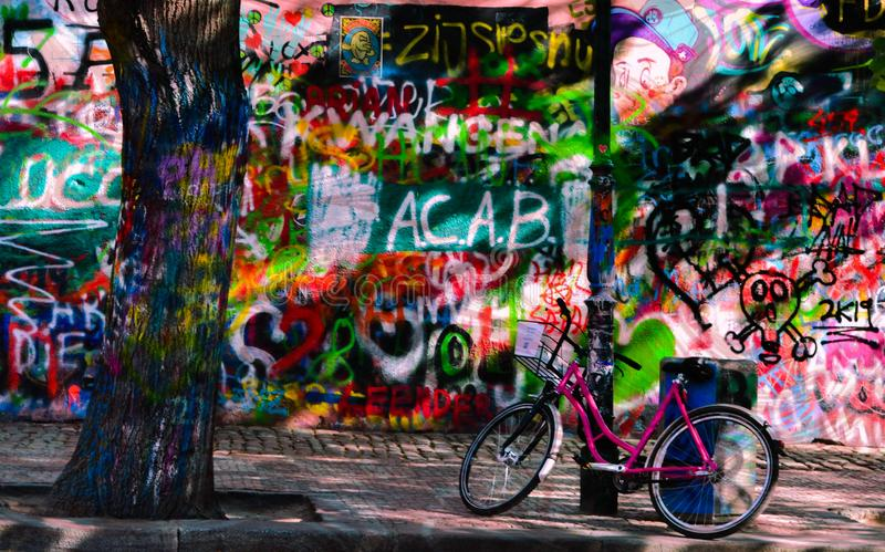 John Lennon Wall Prague photo libre de droits