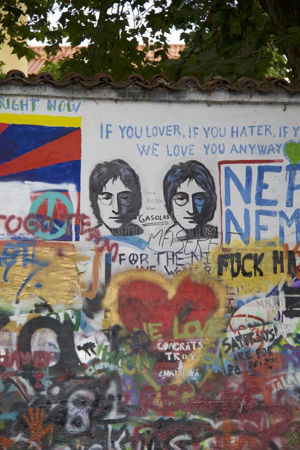 John Lennon Wall in Prague royalty free stock photos