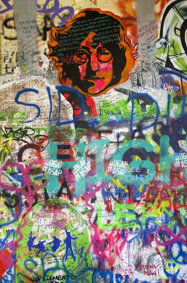 John Lennon wall, Prague royalty free stock photos