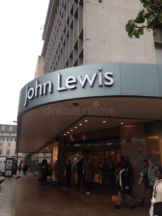 John Lewis Oxford Street royaltyfri fotografi