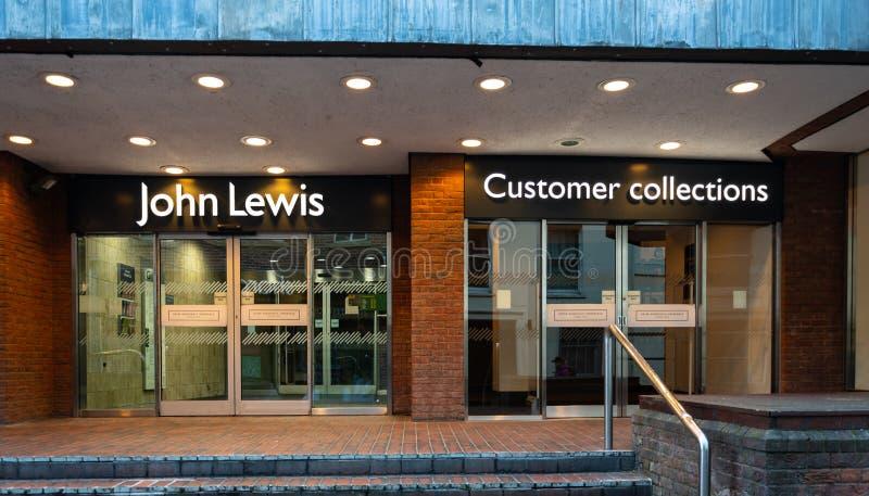 John Lewis Side door Reading stock images