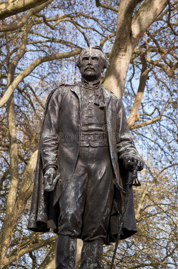 John, Lord Lawrence statue, London royalty free stock images