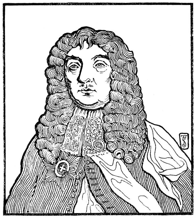 John Maitland, Earl of Lauderdale royaltyfri bild