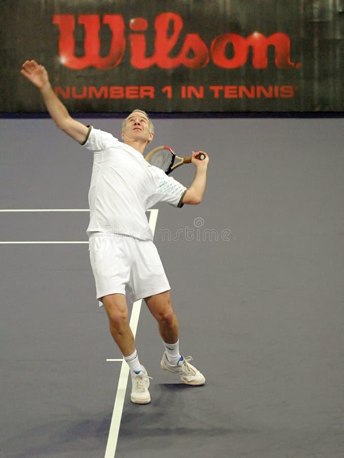 John McEnroe in acties royalty-vrije stock afbeeldingen