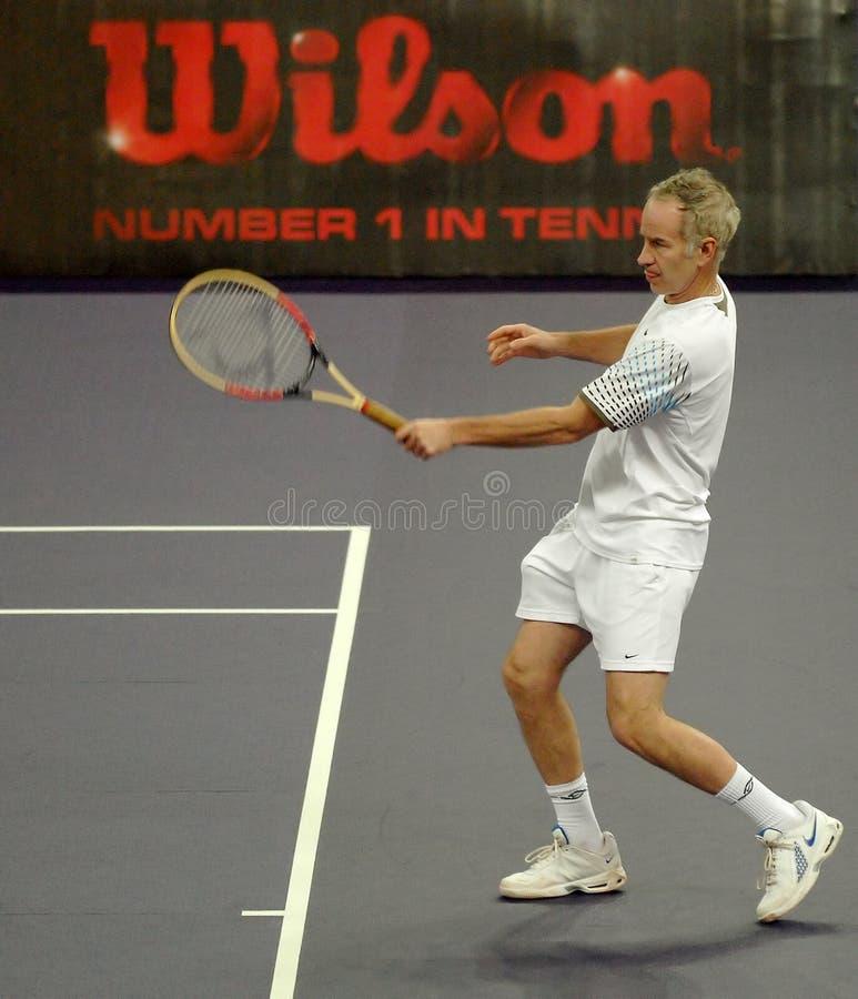 John McEnroe dans les actions photo stock