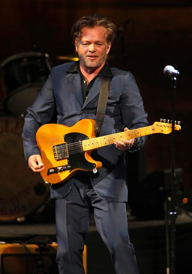 John Mellencamp performs in concert stock photo