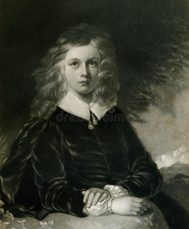 John Milton Age of Twelve Illustration royalty free stock image