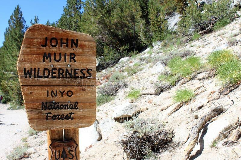 John Muir Wilderness Signage lizenzfreies stockbild