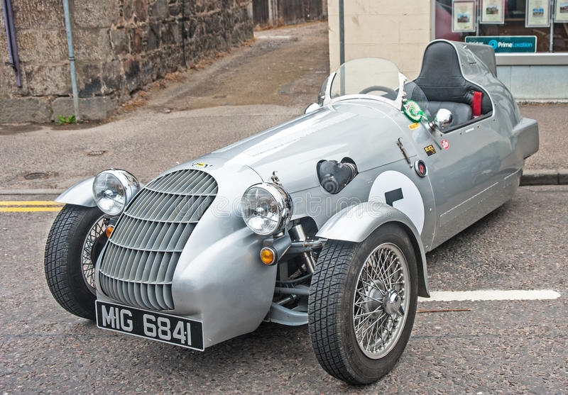 John Nash special. A unique car registered taxed and insured designed and built by John Nash of Nottingham and exhibited at Motor Mania show held at Grantown on royalty free stock photo