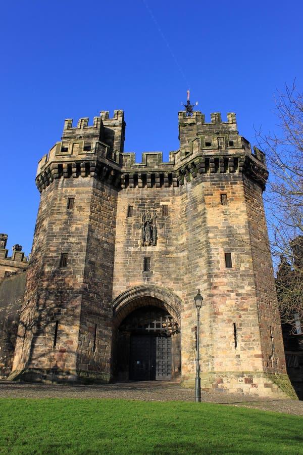 John O'Gaunt's Gateway, Lancaster Castle stock photography