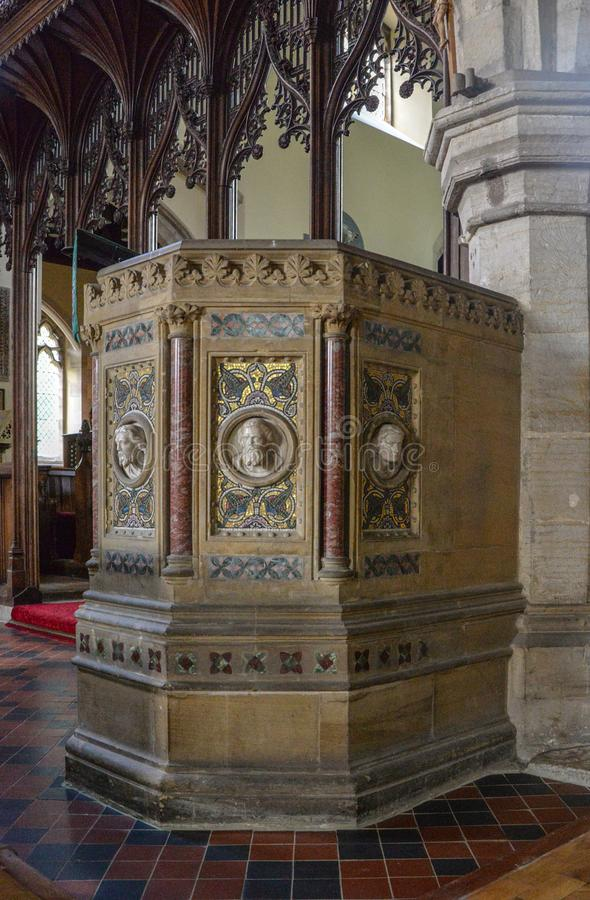 John o púlpito de Baptist Church imagem de stock