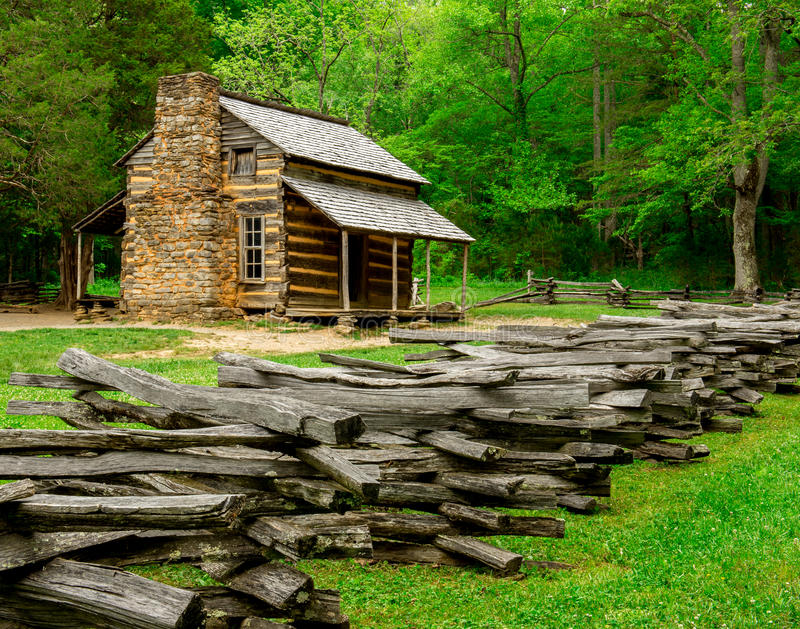 Download John Oliver Cabin Great Smoky Mountain National Park Stock Image    Image: 46151885