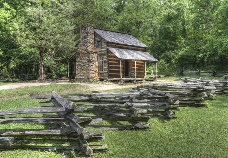 Attrayant Download John Oliver Log Cabin, Great Smoky Mountains National Park Stock  Image   Image Of