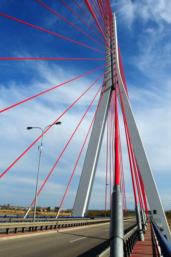 Download John Paul II Bridge In Gdansk Stock Image - Image: 4958987