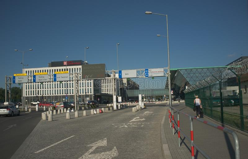 Krakow Airport, Poland - Balice stock photo