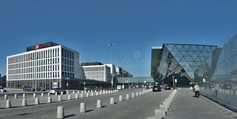 Krakow Airport, Poland - Balice - New tram from Krakow stock photos