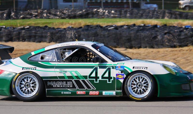 John Potter compete Porsche imagens de stock royalty free