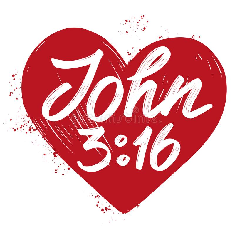 John 316 The Quote On The Background Of The Heart Calligraphic