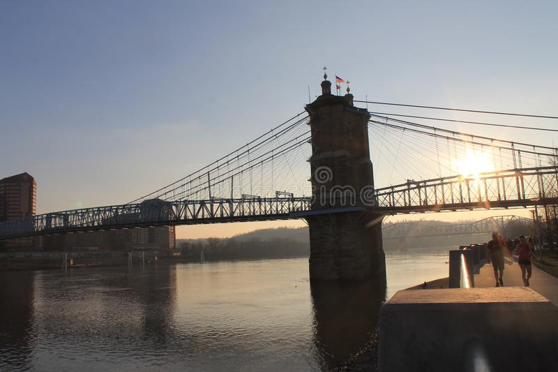 John Robeling Bridge stock images