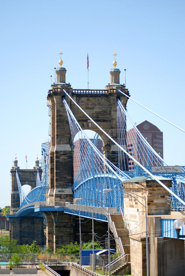 John A. Roebling Bridge photos libres de droits