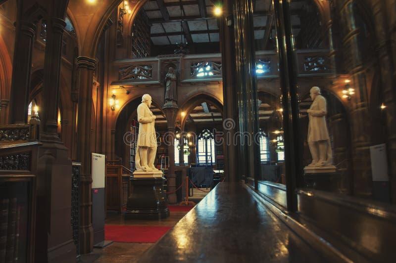 John Rylands Library i Manchester arkivbild