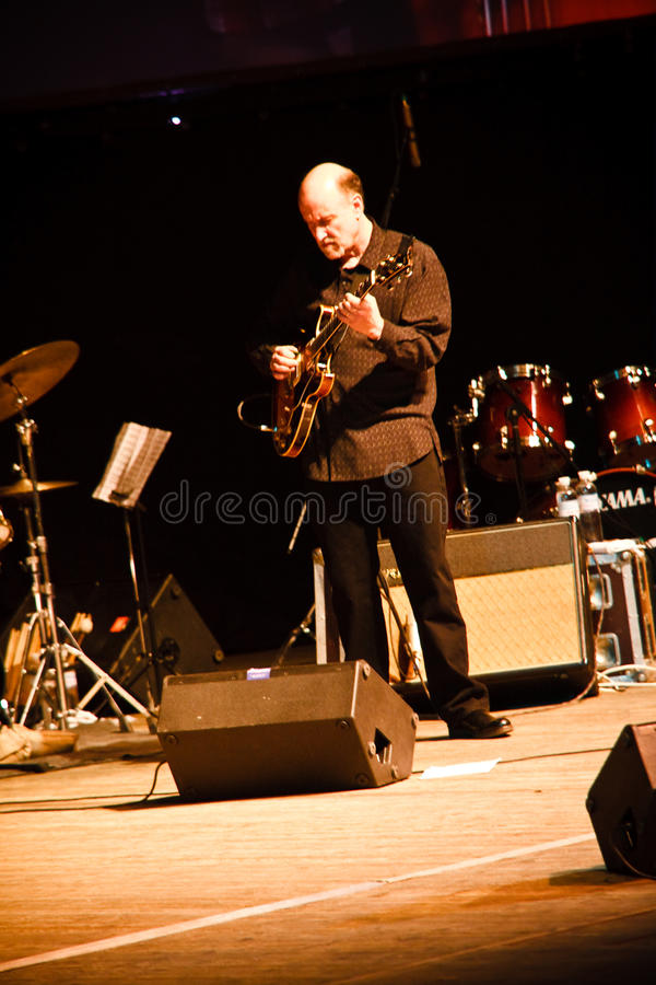 John Scofield Quartet, ZaJazz Festival 2010 stock photo