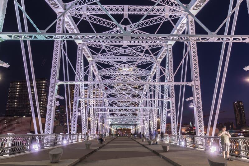 John Seigenthaler Pedestrian Bridge stock fotografie