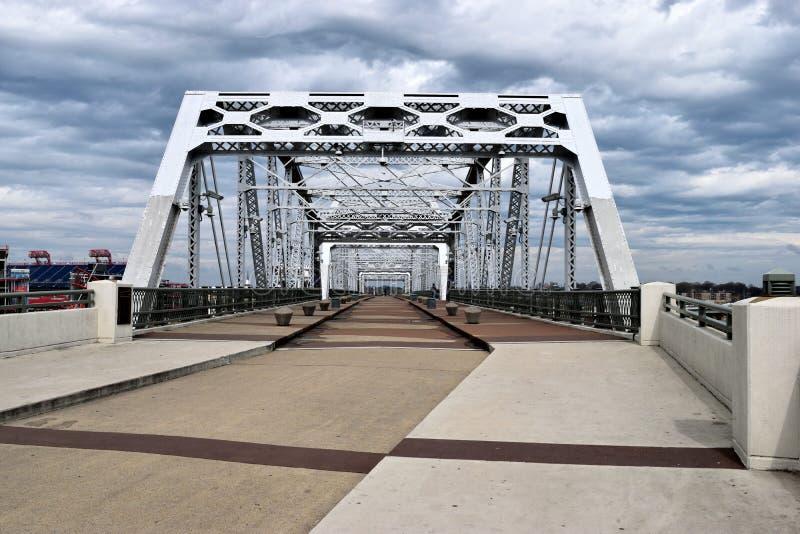 John Seigenthaler Pedestrian Bridge in Nashville royalty free stock images