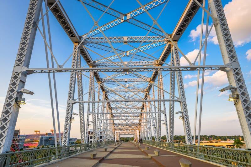 Bridge in Nashville, TN, USA stock photography