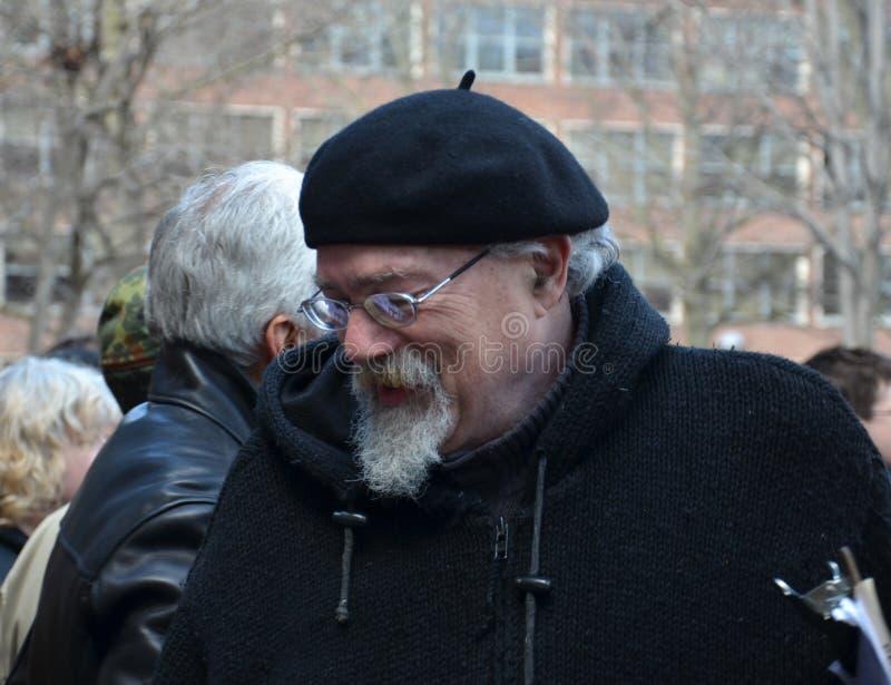 John Sinclair in Ann Arbor Hash Bash 2014 royalty-vrije stock foto