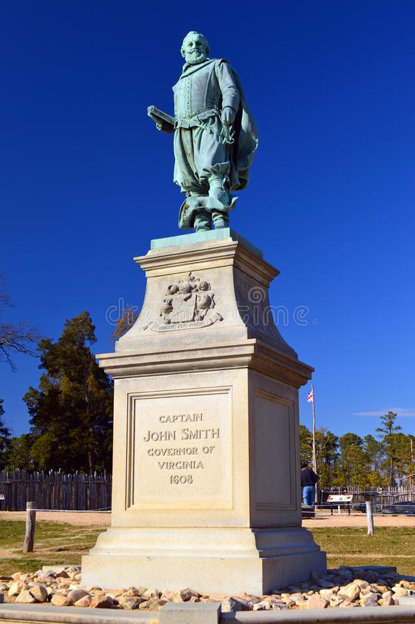 John Smith chez Jamestown image libre de droits