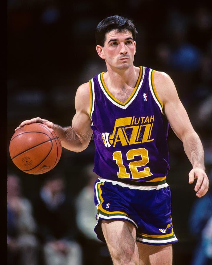 John Stockton Utah Jazz imagem de stock