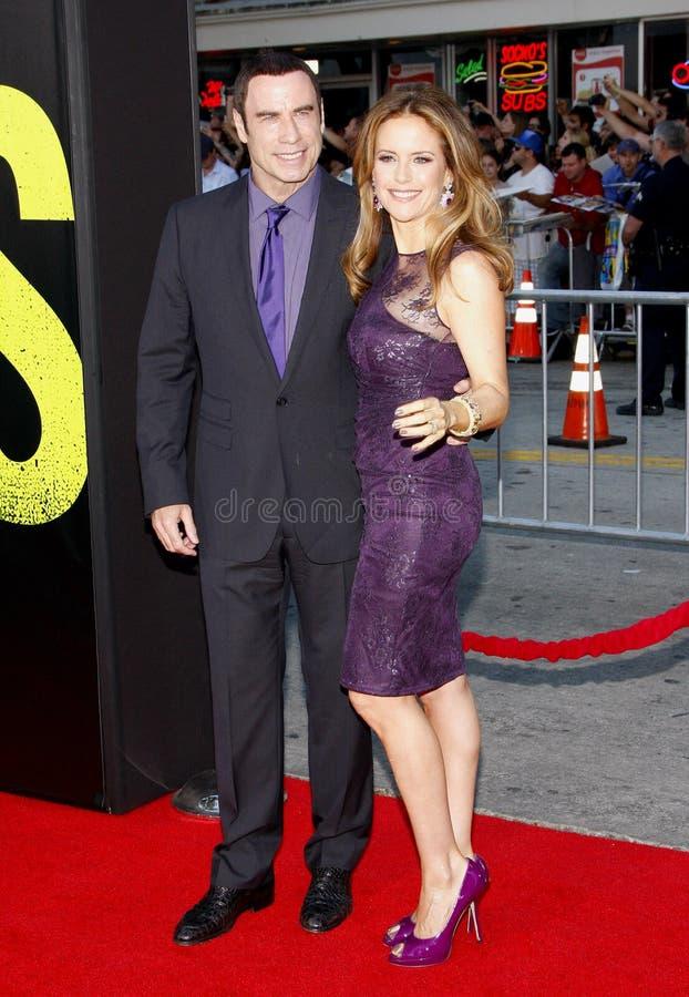 John Travolta i Kelly Preston obrazy royalty free