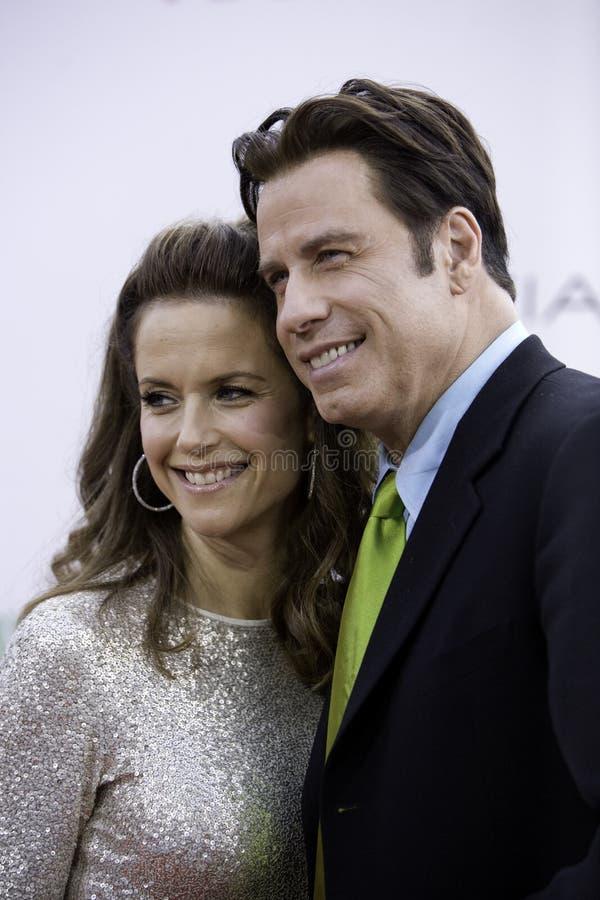 John Travolta und Kelley Preston 2 lizenzfreies stockbild
