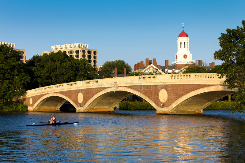 John W Weeks Footbridge. View of the famous and historic John W. Weeks Footbridge that connects Cambridge to Allston in Boston, Massachusetts, USA with the stock photos