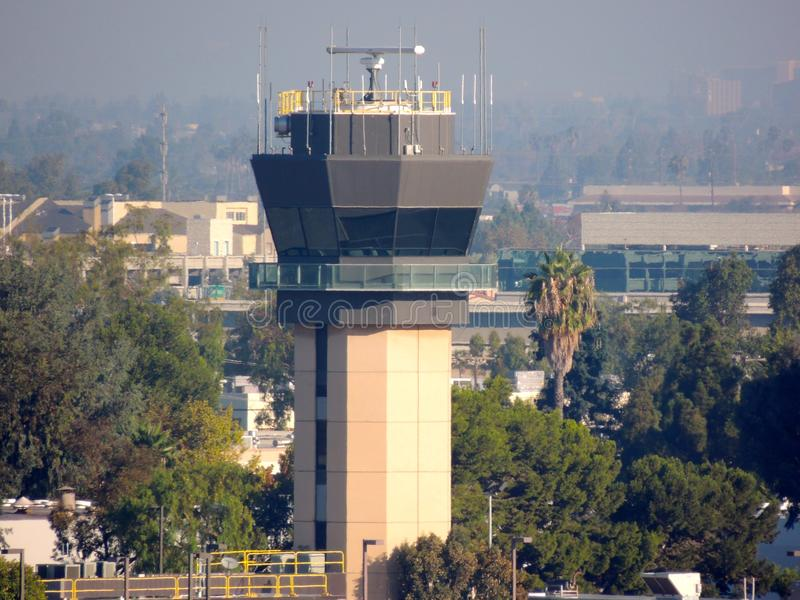 John Wayne Airport Control Tower. Control Tower at John Wayne airport , Orange County, California royalty free stock photos