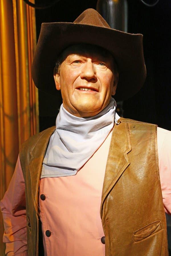 John Wayne dans Madame Tussauds de Londres photo libre de droits