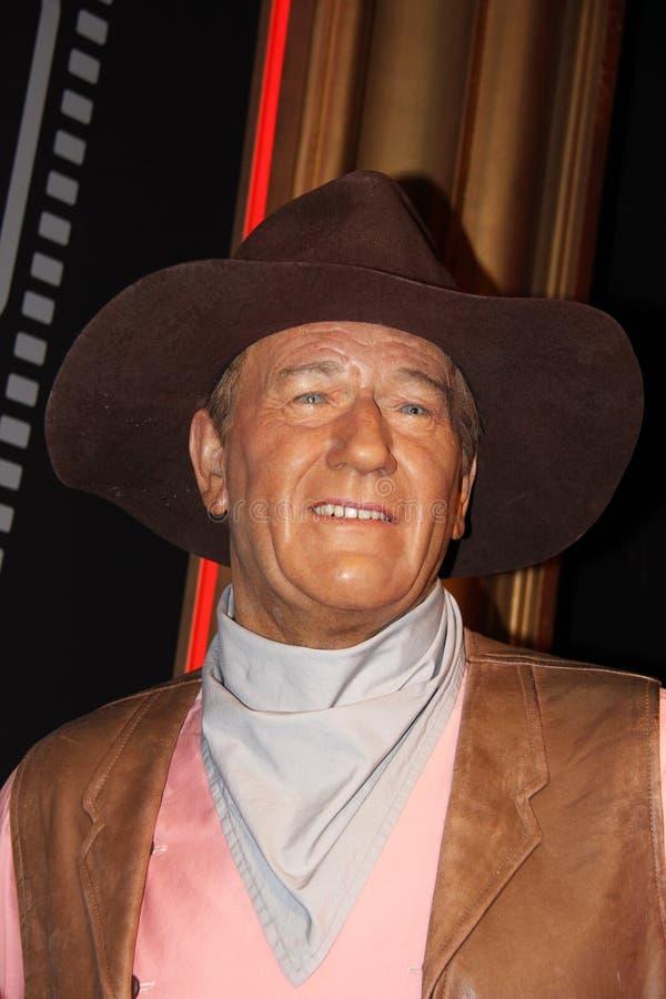 John Wayne på översittaren Tussauds arkivbild